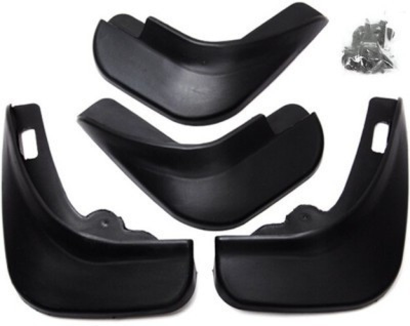 Oscar Cars Front Mud Guard, Rear Mud Guard For Nissan Micra 2014(Black)