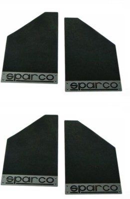 Sparco Cars Front Mud Guard, Rear Mud Guard For Hyundai SantaFe 2015(Black)