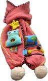 Portia Self Design Kids Muffler (Pink)