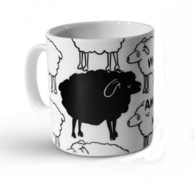 Happily Unmarried Blacksheep Ceramic Mug