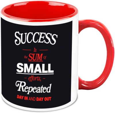 HomeSoGood Success Is Sum Of Small Efforts Office Quote Ceramic Mug