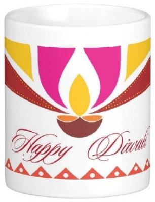 Easyhome Happy Diwali Ceramic Mug