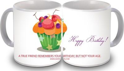 Print Hello Happy Birthday Set of Two Cake 94 Ceramic Mug