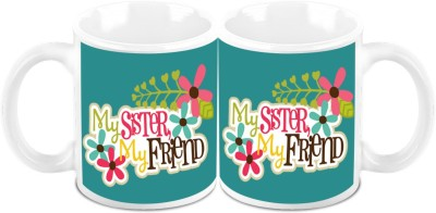 HomeSoGood My Sister My Friend (Set Of 2) Ceramic Mug