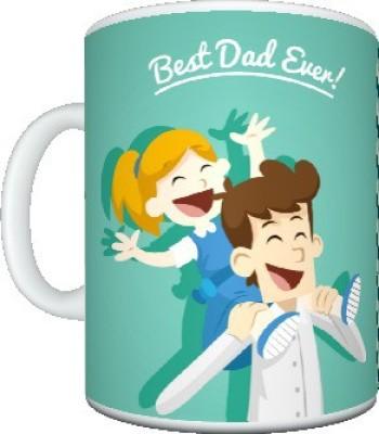 CreativesKart Fathers Day Best DAD Ceramic Mug
