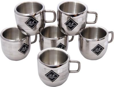 KCL Apple Silver Stainless Steel Mug