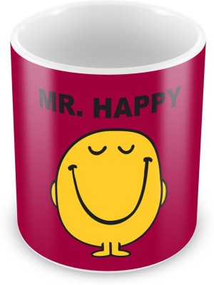 Humor Gang Mr. Happy Coffee , 12 Oz, Perfect for Coffee and Tea Lovers - Great Cup for Him or Her At Home or Office Ceramic Mug