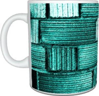 Creatives Weave Green Ceramic Mug
