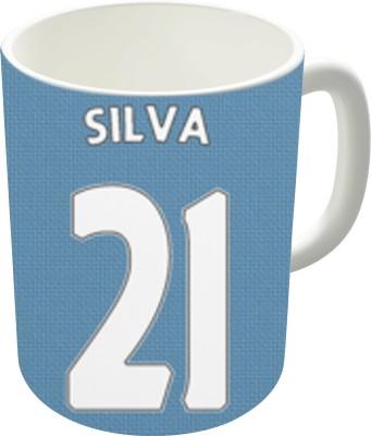 The Fappy Store Manchester City - Silva (21) Ceramic Mug