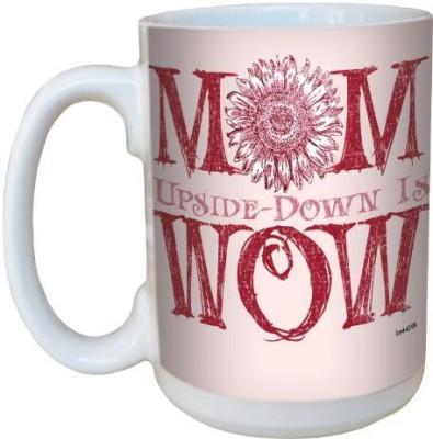 Tree-Free Greetings Greetings lm44295 Wow: Mom Ceramic  with Full-Sized Handle, 15-Ounce Ceramic Mug