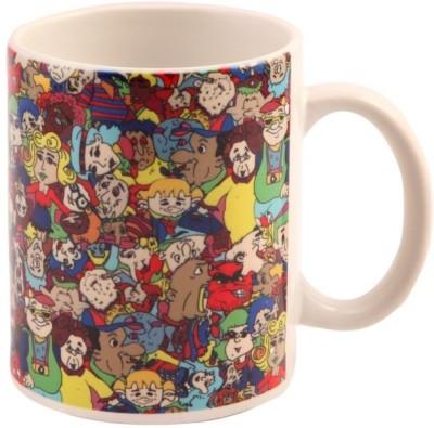 The Purple Sack Cartoon Ceramic Mug