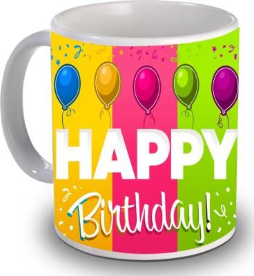 Print Helllo Happy Birthday R117 Ceramic Mug