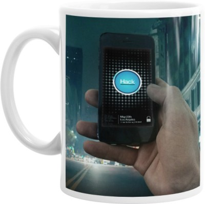 Hainaworld Watch Dogs Hack Coffee  Ceramic Mug