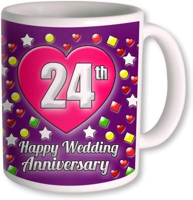 Heyworlds 24th Wedding Anniversary Gift  Ceramic Mug