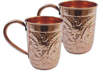 Veda Home & Lifestyle Copper Embossed  Set Copper Mug