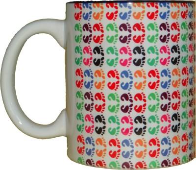 CreativesKart Pug Mark - Inside Blue Ceramic Mug