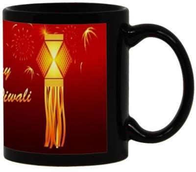 Lolprint 21 Diwali Gift Black Ceramic Mug