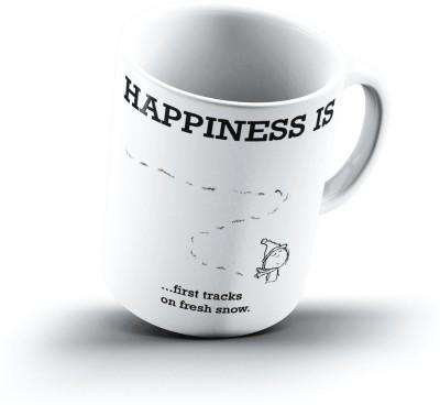 Ucard Happiness Is1781 Bone China, Ceramic, Porcelain Mug