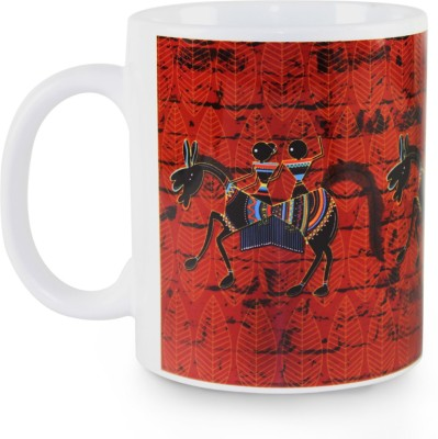 Kolorobia Graceful Warli Horse Ceramic Mug