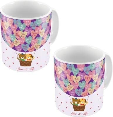 Indiangiftemporium Cute Style Designer Printed Coffee s Pair 775 Ceramic Mug