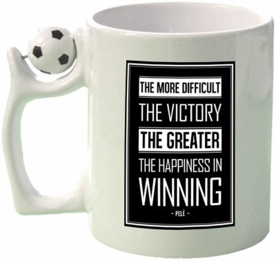 Huppme Gifts Pele Quotes Football  Ceramic Mug