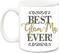IZOR Gift for Grandmother/Grandma/Nani/Dadi On Birthday/Special Occasion;best Glam-ma ever printed Ceramic Mug