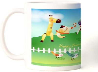 Rockmantra Animals Friends Happy Friendship Day Ceramic Mug