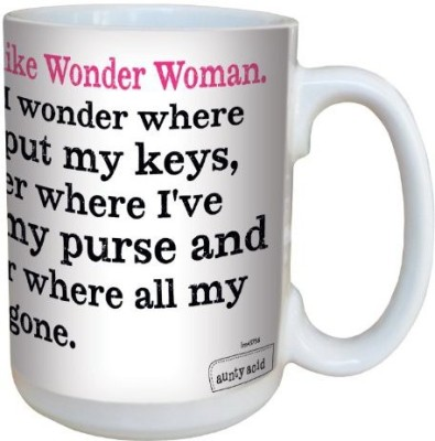 Tree-Free Greetings Greetings lm43756 Hilarious Aunty Acid Wonder Woman by The Backland Studio Ceramic , 15-Ounce Ceramic Mug