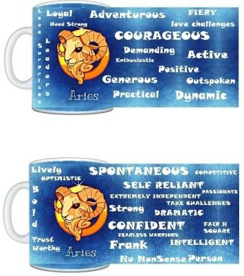 CreativesKart Zodiac Aries (M) Aries(F) Compatibility Ceramic Mug