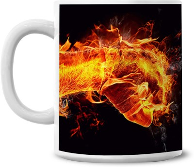 Lovely Collection Fire and Ice Punch Ceramic Mug