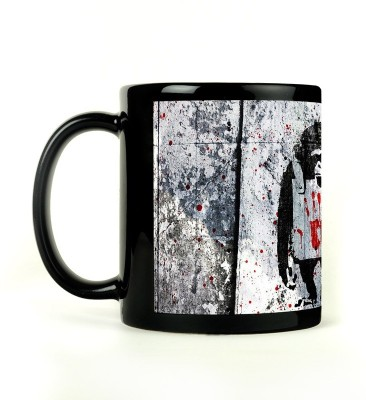 Shoperite Monkey Art Ceramic Mug