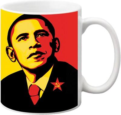 ezyPRNT Obama Pop art Ceramic Mug