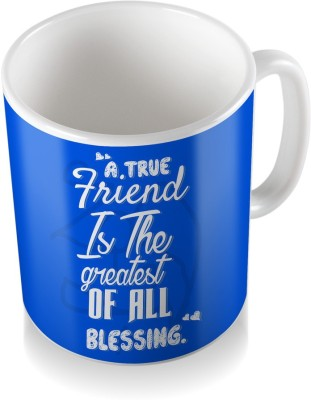 SKY TRENDS A True Friend Is The Greatest Of All Blessing With Royal Blue Cool Gifts For Birthday And Anniversary Coffee Ceramic Mug