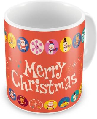 Indian Gift Emporium Fancy Printed Design Orange Coffe  616 Ceramic Mug