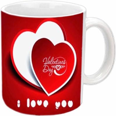 Jiya Creation I Love You Valentine White  Ceramic Mug
