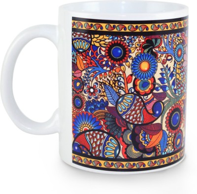 Kolorobia Graceful Peacock Illustration Ceramic Mug