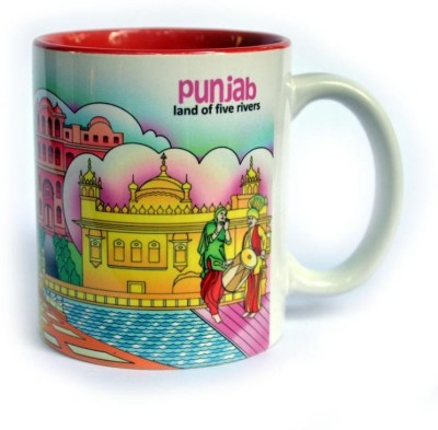 Indiavibes Coffee & Tea Punjab Theme Printed Ceramic Ceramic Mug