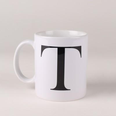 LetterNote Monogram T Ceramic Mug