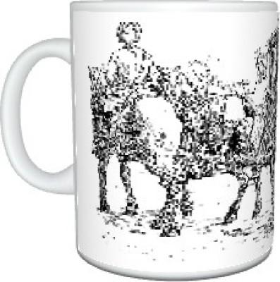 CreativesKart Bullock Cart Ceramic Mug