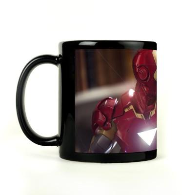 AURRA PRINTED BLACK-538 Ceramic Mug