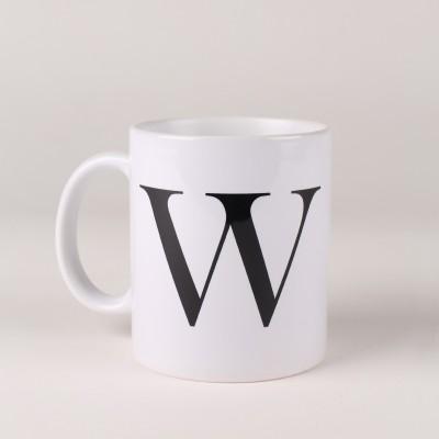 LetterNote Monogram W Ceramic Mug