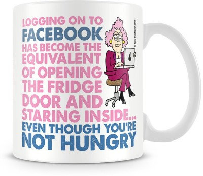 Aunty Acid Logging Onto Facebook Ceramic Mug