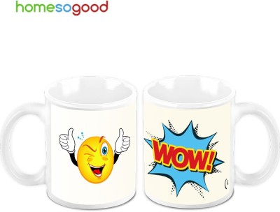 HomeSoGood Wow! That Was Great (Pack Of 2) Ceramic Mug