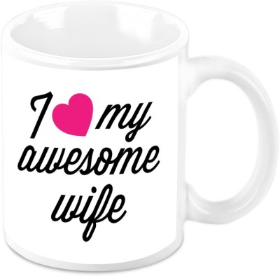 HomeSoGood I Love My Awesome Wife Ceramic Mug