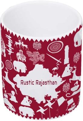 My Insignia Rajasthan Warli Painting Ceramic Mug