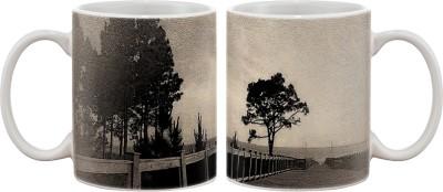 Artifa Vintage Dock Picture Porcelain, Ceramic Mug