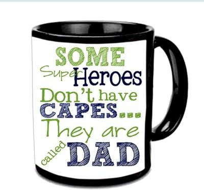 Jiya Creation1 My Superhero ,My Dad Multicolor Ceramic Mug