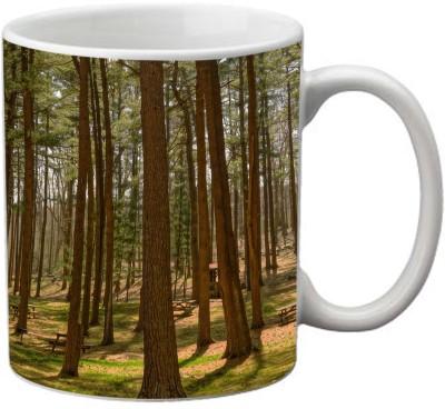 Romanshopping Tree Line  Bone China Mug