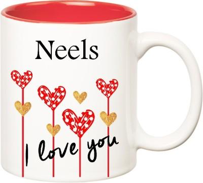 Huppme I Love You Neels Inner Red  (350 ml) Ceramic Mug