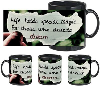Snapgalaxy Special Magic in Black Ceramic Mug